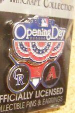 2014 Colorado Rockies v Arizona Diamondbacks Opening Day pin 2 piece 3-D