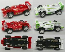 2005 JWL HO 1/64ish American Release F-1 Indy Matched Pair Slot Race Cars Rd/Grn