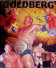WRESTLING POSTER~Bill Goldberg WCW Vintage WWE Collage Championship Belt Orig.~