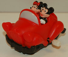 """New listing 1993 Mickey & Minnie Mouse 2.25"""" Burger King Toon Town Car Wind-Up Disney Toy"""