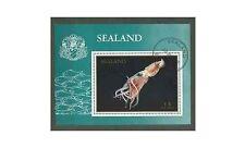 GB locals: Principality of Sealand 1970 Marine Fauna Fish CTO 1v miniature sheet