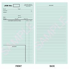 GARAGE WORKSHOP REPAIR JOB CARD  WORKS CARDS  JOB SHEET Pack of 50 Blue Card