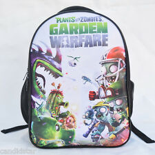 Plant vs Zombies Backpack Garden Warfare Kids Student School Shoulder Bag Unisex