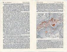 Potenza 1940 picc. pianta di città orig. + guida (3 p.)