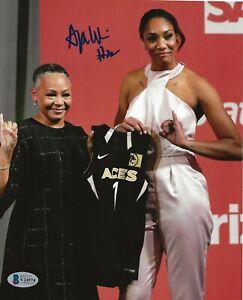 A'ja Wilson signed Las Vegas Aces 8x10 photo autographed WNBA BAS Beckett
