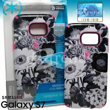Speck CandyShell INKED Case for Samsung Galaxy S7 - Vintage Bouquet Grey / Pink