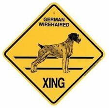 German Wirehaired Pointer Xing Sign Dog Crossing New