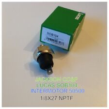 LUCAS SOB104 OIL PRESSURE SWITCH FITS A WIDE RANGE OF CLASSICS WITH 1/8X27 NPTF