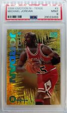 1994 94 Emotion N-Tense Michael Jordan #3, Rare Foil Insert, Graded PSA Mint 9