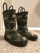 Gymboree Green Camouflage Boy Rain Boots Size 11