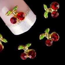 """New"" DIY 3D Nail Art Decoration Cherry Fruit Alloy Rhinestone Gems Stickes UK#1"