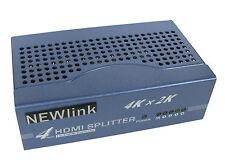 4 Port HDMI SPLITTER V1.4 2160p 4 Way HD Hub Switch Box 4K x 2K 3D HD TV Sky