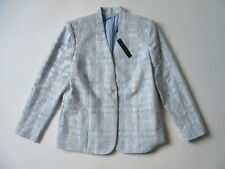 NWT Elie Tahari Tori Jacket in Sky Blue Metallic Tweed Blazer 16 $468