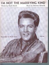 I'm Not the Marrying Kind 1962 Elvis Presley Sheet music