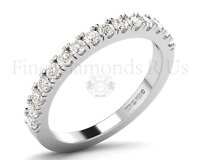 0.75 Carat Round Brilliant Cut Diamonds Claw Set Half Eternity Ring in 18K Gold