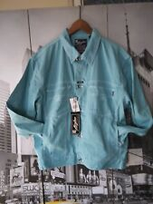 NWT Men's Karl Kani Jeans Denim Jacket Dutch baby blue Size Large