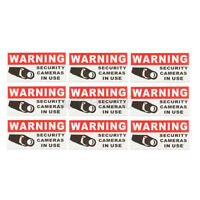 4x2'' Pack of 8 Decal Sticker SECURITY CAMERA IN USE Warning Safety Sign