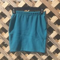 Forever 21 Women's TealLined Classic Pencil Mini Work Casual Skirt Size Small
