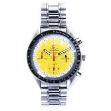 OMEGA Speedmaster Racing Schumacher SS automatic chrono yellow dial wrist watch