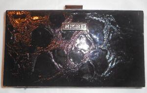 New MICHE Black Patent Moc Croc Hard Case Wallet/Clutch/Evening Bag!
