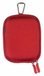 Universal Compact Digital Camera Mobile Phone Case Protective Hard Shell Red fit
