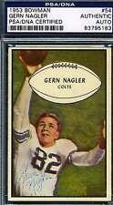 GERN NAGLER PSA/DNA SIGNED 1953 BOWMAN AUTHENTICATED AUTOGRAPH