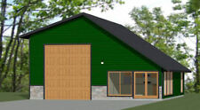 34x42 1 RV Garage - 1 Bedr 1 Bath - 1,428 sq ft - PDF Floor Plan - Model 1B