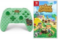 NEW Animal Crossing Bundle Nintendo Switch Wireless Controller + Game