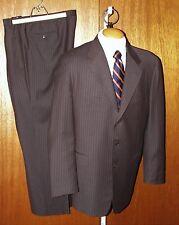 "PAL ZILERI ""E.Thomas Super 120's"" Three Button Pinstripe Suit 42 L (52 EU) Italy"