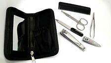 Trim Men's Travel Grooming Kit Set. 2 Clippers, Tweezers, File, Comb, scissors