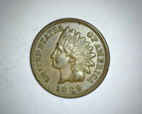 1889 INDIAN HEAD CENT PENNY 1C AU / BU ABOUT TO BRILLIANT UNCIRCULATED