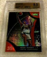 KEVIN DURANT 2007 TOPPS FINEST REFRACTOR RC BGS 9.5 POP 192 LOWER THAN CHROME