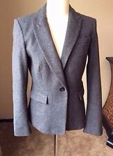 Banana Republic Size 6 Gray Wool One Button Blazer Jacket