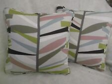 """TETRA  BY SCION 1 PAIR OF 18"""" CUSHION COVERS - PIPED AND DOUBLE SIDED"""