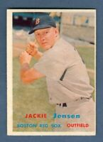 1957 Topps JACKIE JENSEN #220 Red Sox *EXCELLENT-MINT*