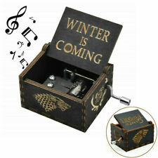 """Game of Thrones"" Wooden Handmade Hand Crank Music Box Birthday Kids Toy Song"