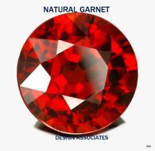 Venta al por mayor Lote de 3mm a 10mm-Rojo Granate Natural Corte Redondo Facetado Piedra Suelta