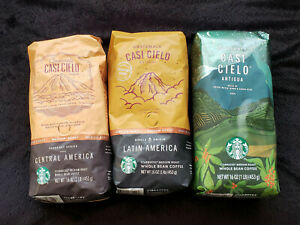 Starbucks CASI CIELO Whole Bean Flight Taster Sampler (1 LB / Bag)