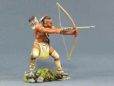TEAM MINIATURES AMERICAN INDIANS IDA6002 APACHE WARRIOR SHOOTING BOW & ARROW
