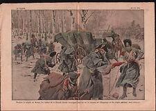 Retraite Russie Soldats Garde Grande-Armée Carrosse Napoleon 1921 ILLUSTRATION