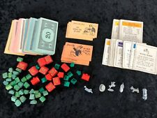 Vintage Monopoly Pieces Wood Modern Plastic Colored Chance Property Money