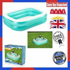 Bestway Inflatable Family Pool, Blue Rectangular with Water Capacity 450L