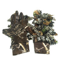 CAMO GHILLIE SHOOTING GLOVES CAMOUFLAGE HIDE ANTI SLIP STALKING AIRSOFT  !!
