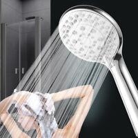 Pommeau de douche universel multi fonction 5 modes, bain chromé anti-calcaire