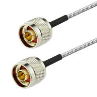 N Male to Male Connector RF Coaxial Pigtail Cable RG402 30cm
