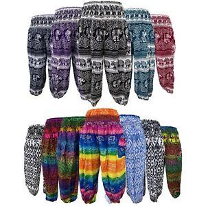Harem Hippie Baggy Summer Festival Boho Womens Gypsy Bohemian Casual Trousers