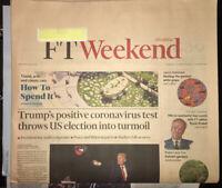 FInancial Times Weekend Newspaper October 3 2020 Trump & C0ViD Election Turmoil