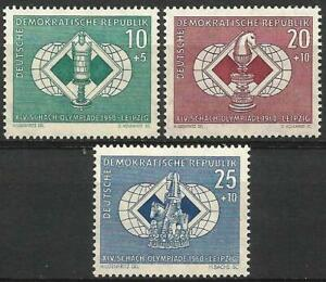 Germany (East) 1960 MNH - Chess Olympiad Leipzig Rook Knight