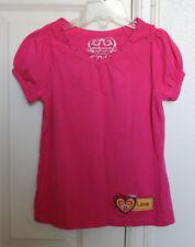Childrens Place Girls 7 8 T-Shirt Girl Pink Love Heart Jewels EUC