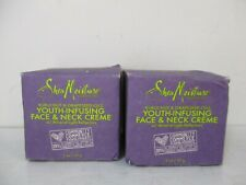 2 SHEA MOISTURE YOUTH INFUSING FACE & NECK CREME 2 OZ EACH -READ- JL 12312